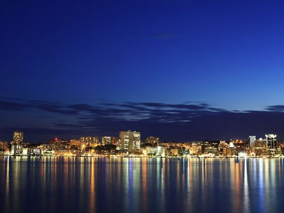 Halifax skyline at twilight