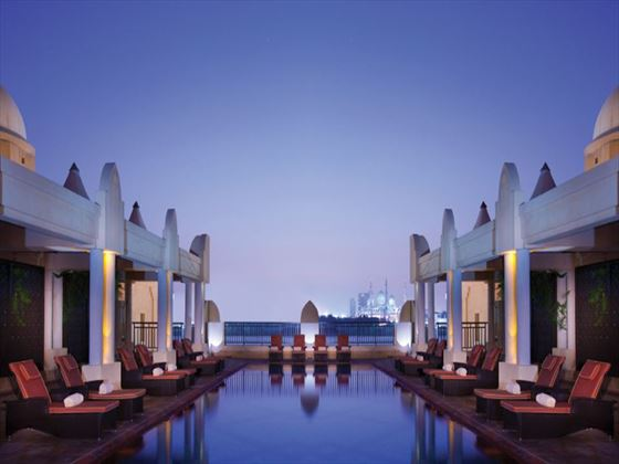 Health club and spa lap pool at Shangri-La Qaryat al Beri