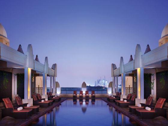 Health club and spa lap pool at Shangri-La Qaryat al Beri
