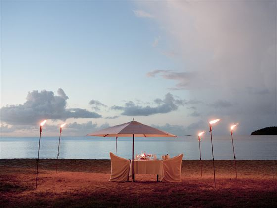 Private, romantic dinner on your wedding