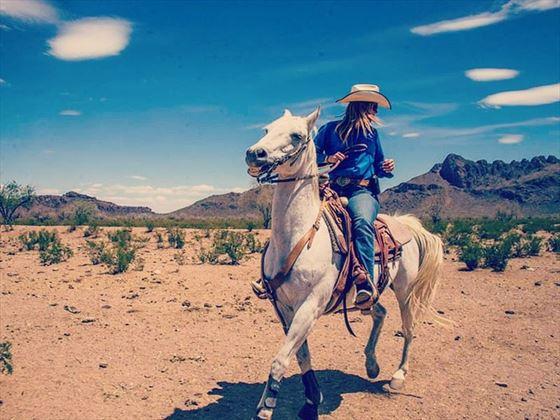 Horse riding at White Stallion Ranch, Arizona