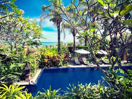 The main pool at Hotel Tugu Bali, Canggu Beach