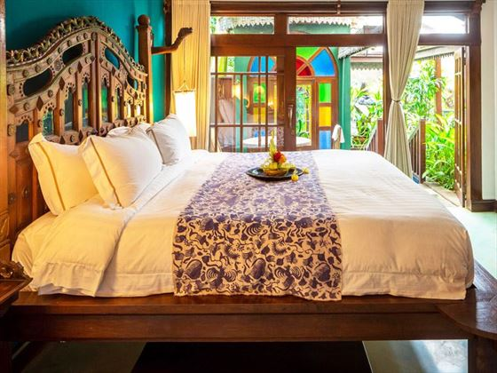 Walter Spies Pavilion bedroom at Hotel Tugu Bali, Canggu Beach