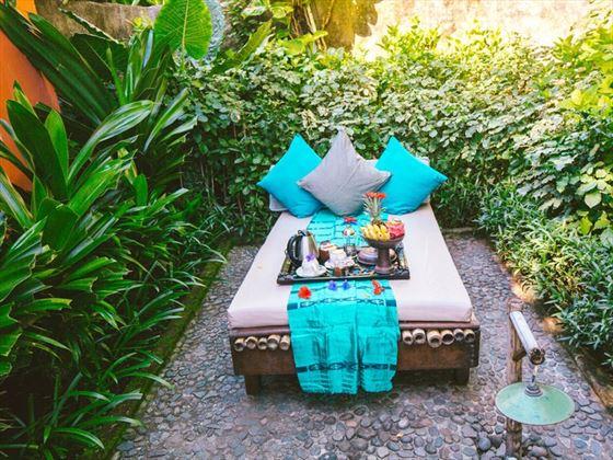Aloon Aloon Villa garden at Hotel Tugu Lombok