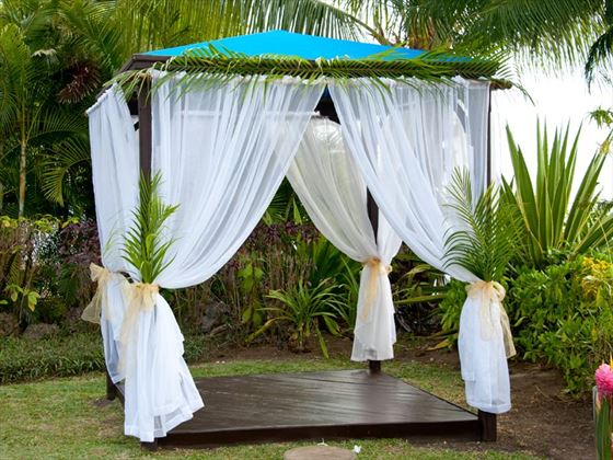 The wedding venue at The House, Barbados
