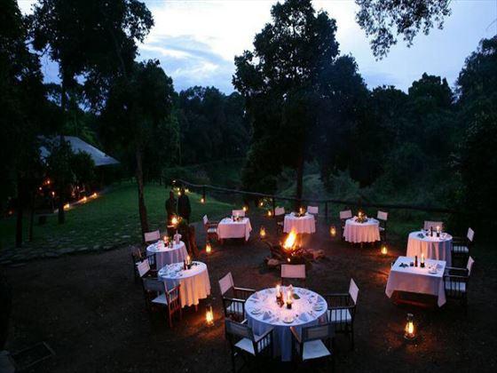 Il Moran outdoor dining area