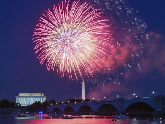 Independence Day Fireworks over Washington D.C.