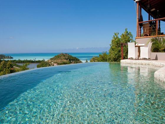 Infinity pool and sun deck at Sugar Ridge