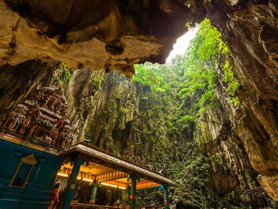 Inside the Batu Caves, Malaysia