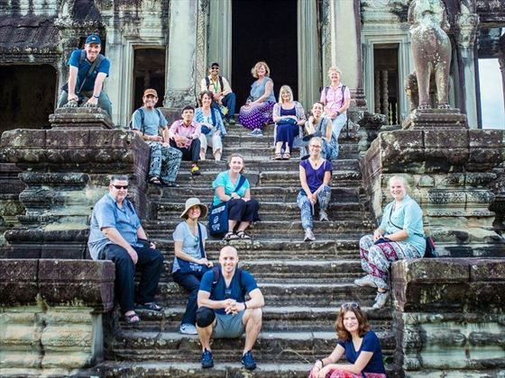 Travel Group at Angkor Wat temples