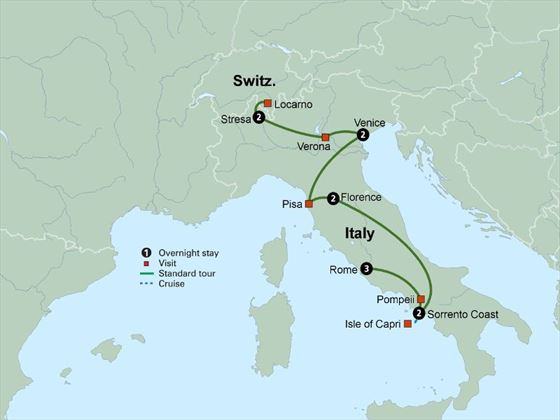 Italian Vistas itinerary