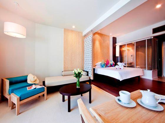 Katathani Phuket Beach Resort Hotel living room