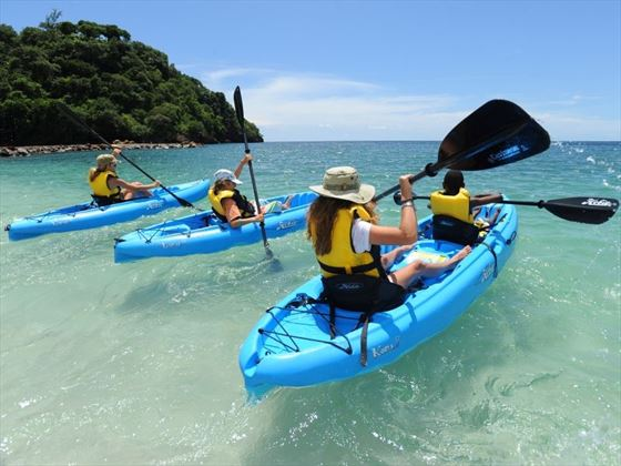 Kayaking at Buccament Bay Resort