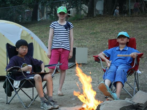 Relax around the camp fire