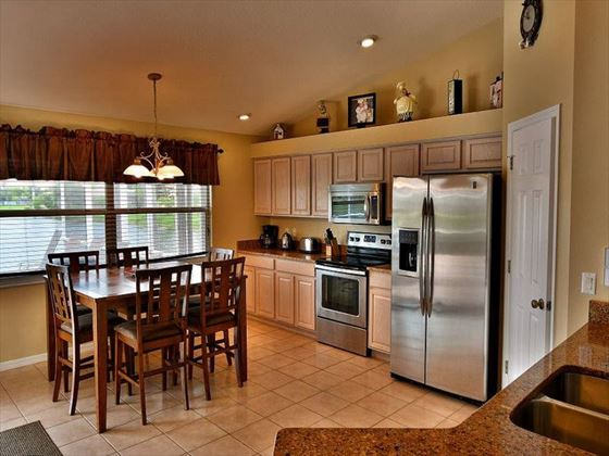 Kitchen at Fort Myers Area Pool Homes