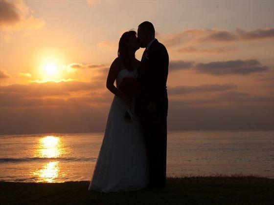 Sunset on La Jolla cliffs