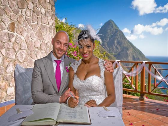 Bride & Groom at Ladera Resort