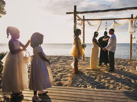 Beautiful beach wedding at Laluna