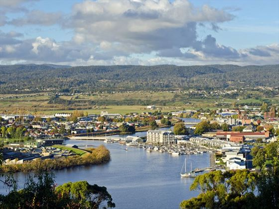 Launceston on the Tamar River