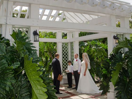 Courtyard Garden Gazebo ceremony setting