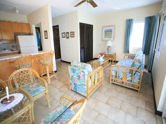 Living area at Timothy Beach Resort