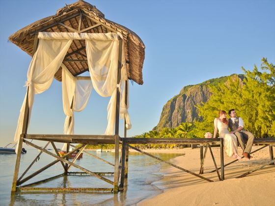 Gorgeous setting for a perfect wedding at LUX* Le Morne