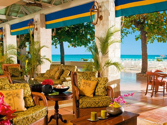 Lobby seating area at Sandals Montego Bay