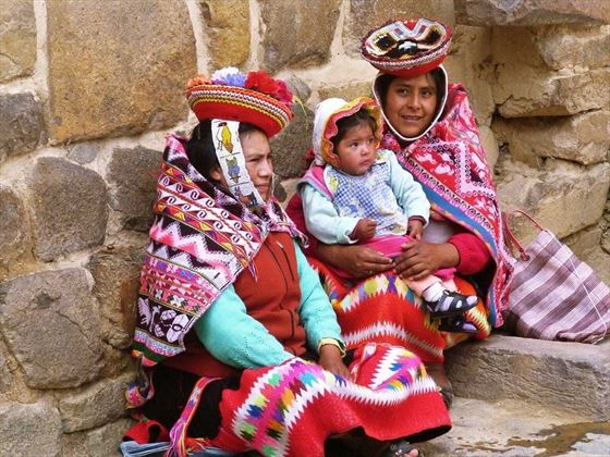 Local Family in the Sacred Valley, Peru