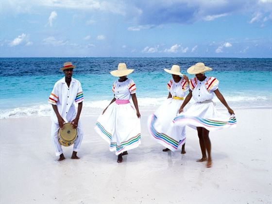 Local people in national costume