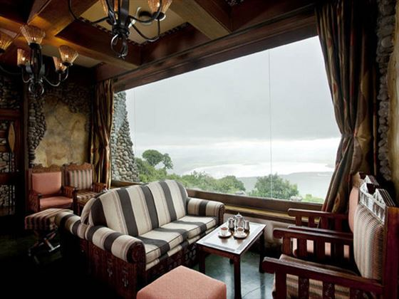 Lounge area at Ngorongoro Serena Safari Lodge
