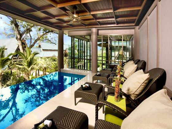 Lounge areas in the spa at Centara Grand Beach Resort