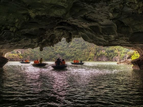 Limestone Cave in Halong Bay