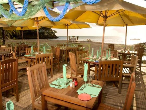 Lydias beachside restaurant at Jolly Beach Resort & Spa