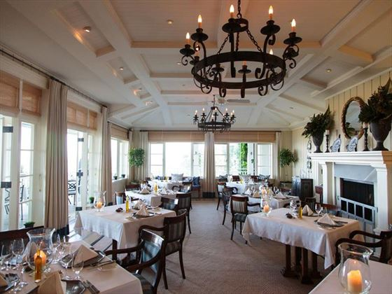 Main dining room at Kauri Cliffs