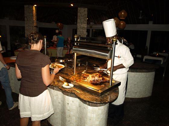 Main restaurant at Papillon Lagoon Reef