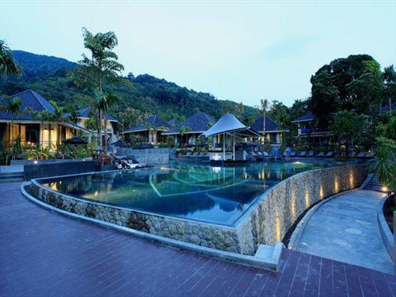Mandarava swimming pool at night