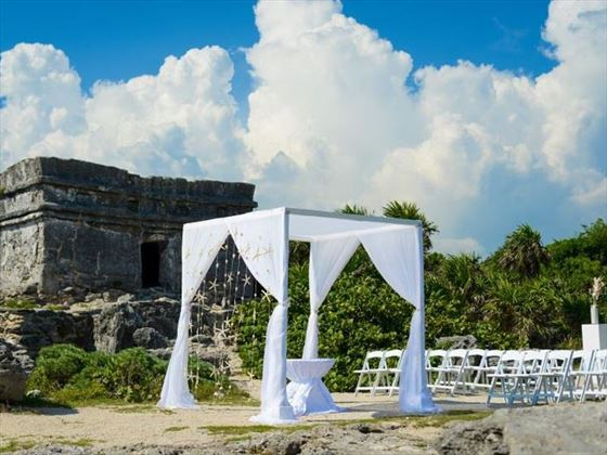 Mayan Ruins, a unique setting for your Mexican wedding