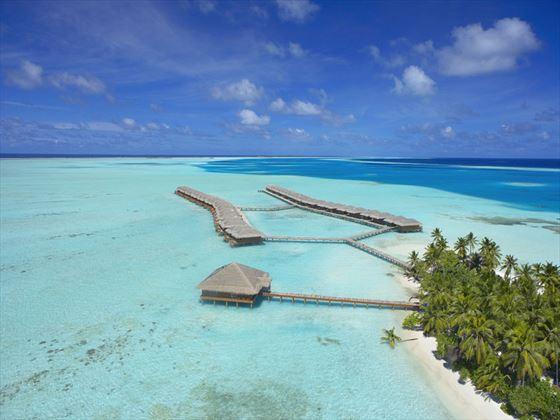 Birds eye view of Medhufushi Island Resort