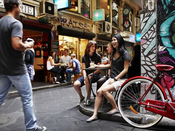 Laid-back dining on the streets of Melbourne