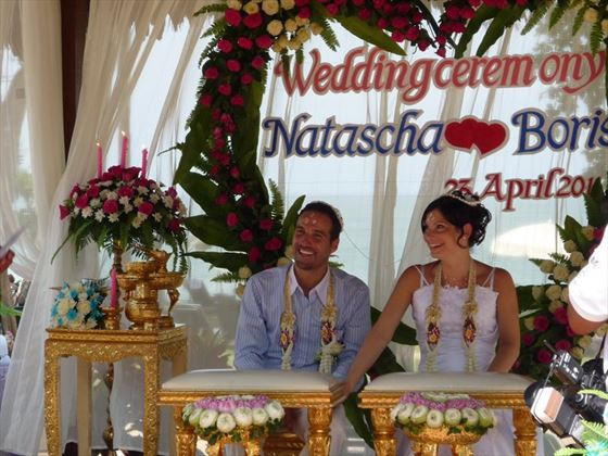 The wedding ceremony at Khao Lak Merlin Resort