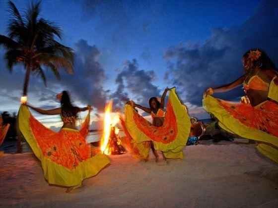 Dance entertainment at Mervile Beach - Grand Baie