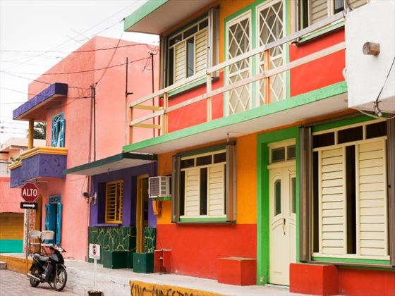 Colourful buildings in Isla Mujeres