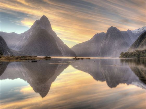 Milford Sound at twilight