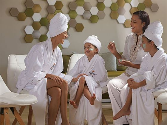 Mother and Daughters at the spa