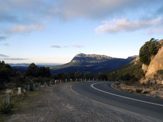 Mountain road in Tasmania