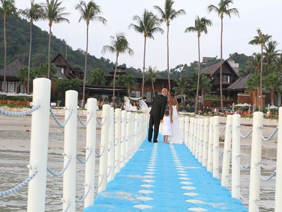 Wedding couple at Mai Samui