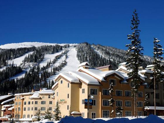 Nancy Greene's Cahilty Hotel in the winter