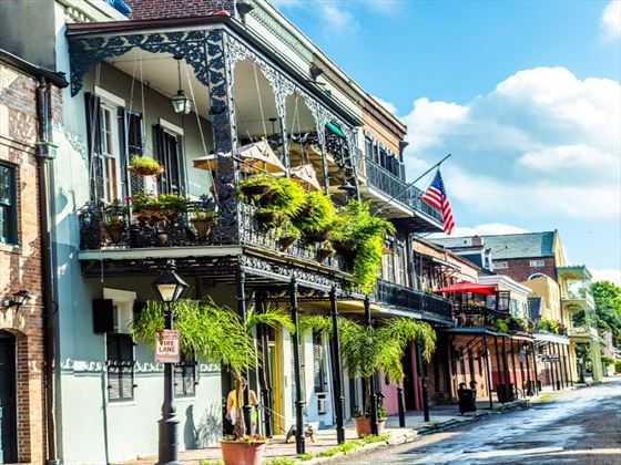 Historical buildings in the French Quarter, New Orleans