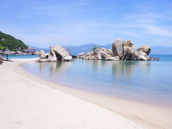 On the beach in Nha Trang, Vietnam