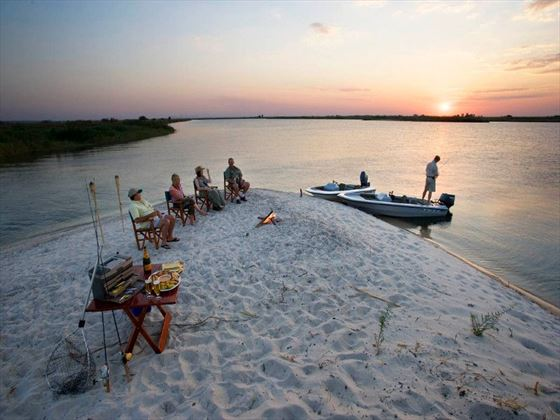 Sunset drinks in Namibia